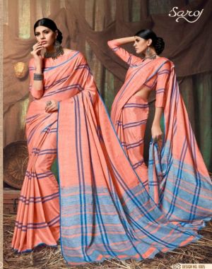Vanilla Bean Saroj Cotton Saree Set