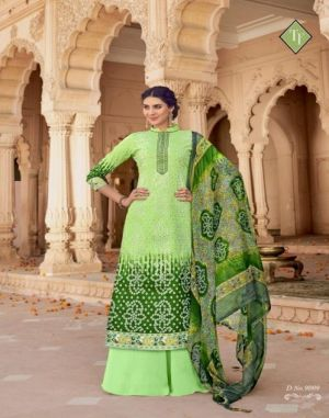 Satrang tanishk fashion churidar dress materials catalogue