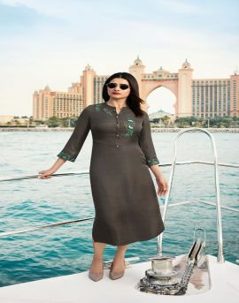 mirror party wear kurti catalogue by vinay fashion