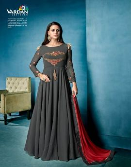 Navya vol 7 by vardan party wear gown catalogue
