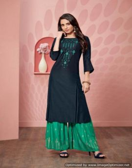 Victoria by sweety fashion party wear kurti palazzo catalogue
