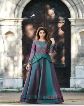 Arihant by floret vol 7 long heavy gown collection