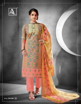 Ishani by alok suit designer dress materials catalogue