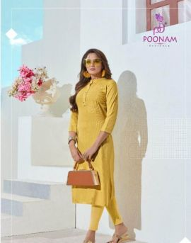 Classic Beauty by poonam designer causal wear kurtis