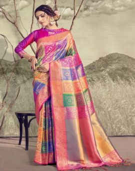 Satrangi Silk by ynf fashion party wear sarees catalogue