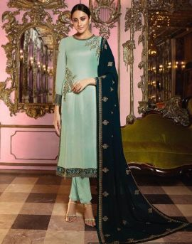 Fiona present Norita Satin Georgette Heavy Festive Wear Salwar Suits collection