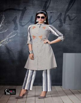 Fly Free present Check Mate Handloom Cotton Kurti With Pant catalogue