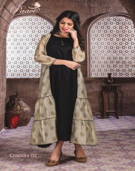 Paavi present Chandni Designer Rayon Kurti With Koti catalogue