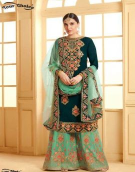 Y.C by Miss World Faux Georgette Wedding Salwar Suits