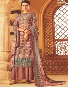 Alok by Mishka Pure Wool Pashmina Designer Dress Material