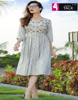 FT by Floret vol 1 Heavy Rayon Round Casual Wear Kurtis catalogue
