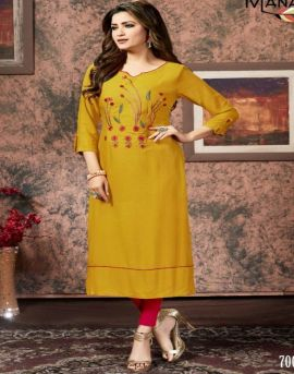 Manas by Sakhi Casual Wear Straight Cut Kurtis collection.