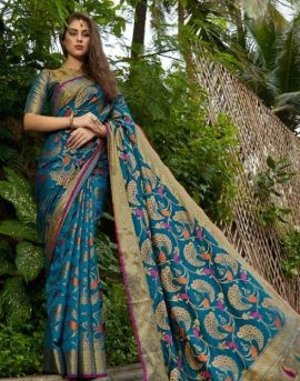 Shangrila by Sundari Silk Designer Weaving Zari Silk Saree Collection