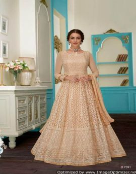 Aashirwad by Anushka Real Georgette Lakhnavi Special Collection