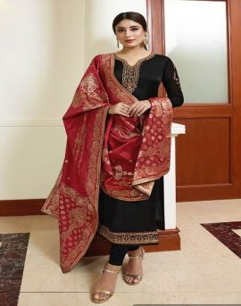 Fiona by Kritika Jacquard Dupatta vol 9 Embroidered Salwar Suits