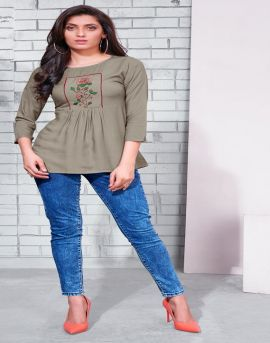 Riyaa present Pinky western top collection.