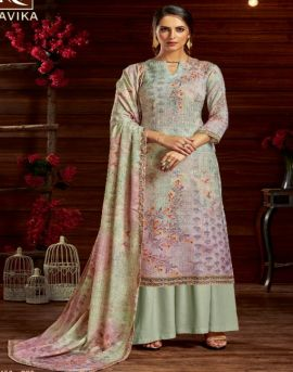 Alok present Aavika designer dress material catalogue