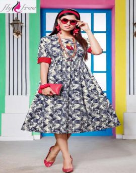 Fly Free by Signature Printed Denim Kurtis catalogue