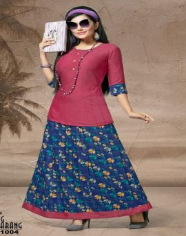 Kinti present Rang tarang vol 10 Skirt and Top catalogue