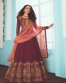 Aashirwad  by Karishma Real Georgette Embroidered Salwar Suits