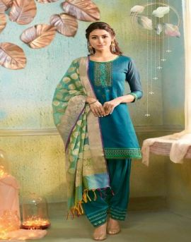 Kessi by  Silk Patiala vol  2 Chanderi Punjabi Dress Material