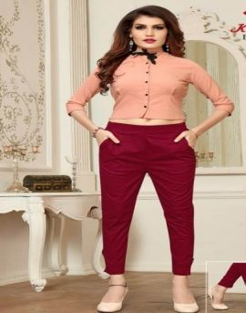 Krisha  by Signature Rayon Slub Lycra Pant Collection