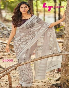 Lt  by Ishira Rich Look Brasso Saree Collection