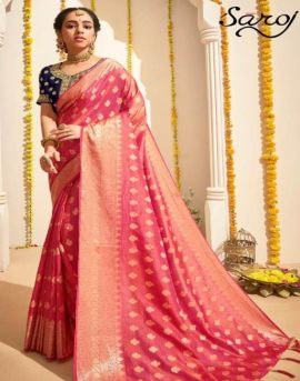Saroj by Anokhi Designer Sarees catalogue.