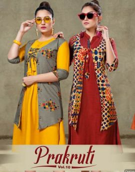 Kinti  by Prakruti  vol 10 Heavy Rayon Printed Kurti
