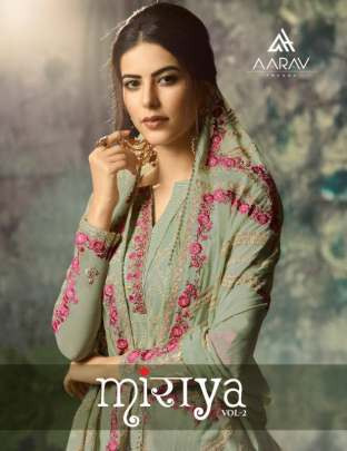 AARAV MIRAYA 2 REAL GEORGETTE AND ELEGANT EMBROIDERED