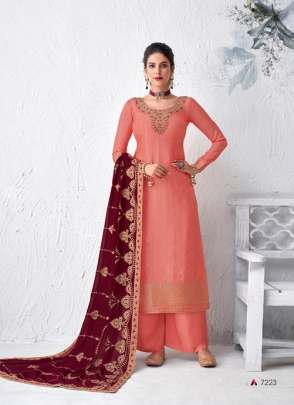 Aashirwad  presents Gulabo 7218 Series Designer Salwar Suits