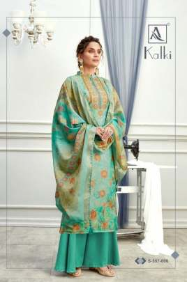 Alok presents  Kalki Casual Wear Printed Designer Dress Material Collection
