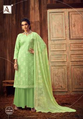 Alok  presents  Bloom Gold  Designer Dress Material