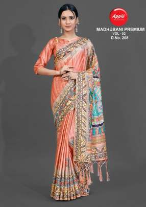 Apple  presents  Madhubani Premium vol 2 Casual Wear  Sarees  Collection