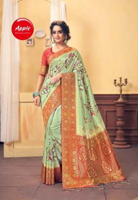 Apple presents  Ruby Maya  Printed Saree Collection