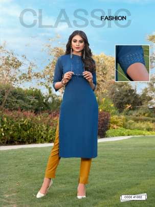 Banwery Presents  Taj designer kurti with bottom collection