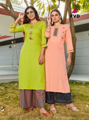 FVD launching Begum vol 1 Kurti With Bottom Collection