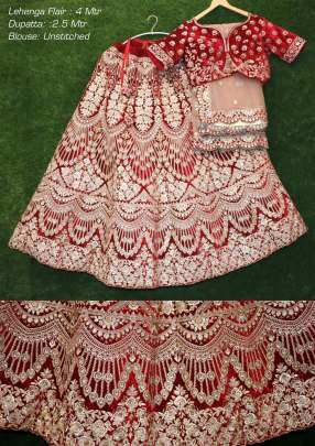 Fc presents 1800 Designer Wedding Wear Velvet Lehenga Collection