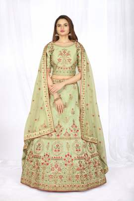 Fc Presents 5025- Light Green Lehenga Choli Buy Indian Stylish Collection
