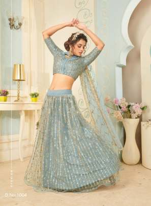 Fc Presents Glamour 1004  Heavy Net  Designer  Lehenga Collection