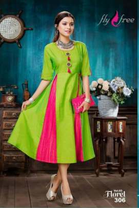 Fly Free presents  Floret vol 3 designer  Kurti Collection