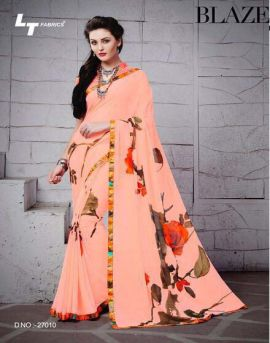Glamours Georgette saree catalog