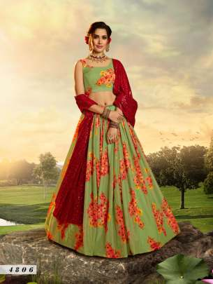 Green  4806  printed lehenga choli collection