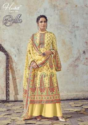 Harshit  presents Bella Cotton Digital Printed Designer Dress Material Collection