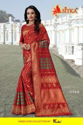 Sitka Present  jabriya jodi 1174 sarees collection