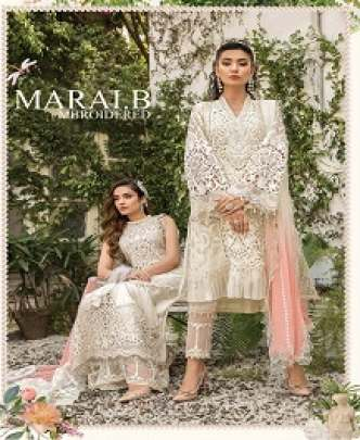 KAARA MBROIDERED M PRINT GEORGETTE AND NET DESIGNER