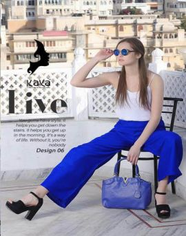 Kaya Regal Rayon plazzo pants