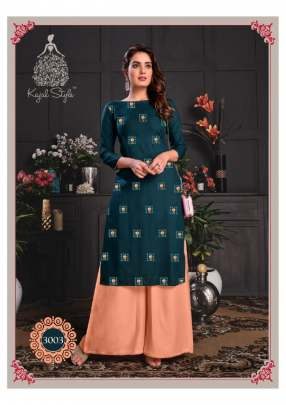 Kajal style presents  Fashion  Galaxy  vol 3 Kurti With Bottom Collection