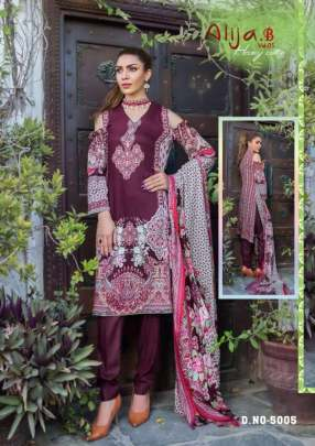 Keval  presents Alija b vol 5  Karachi Dress Material