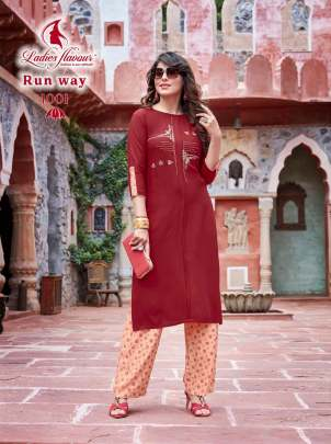 Ladies Flavour Presents  Runway  kurti with Bottom collection